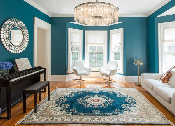 Beautiful green blue paint colors for living room decorating ideas