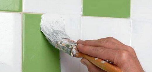 Как покрасить кафель