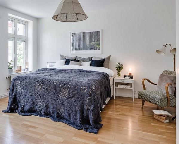 скандинавская спальня