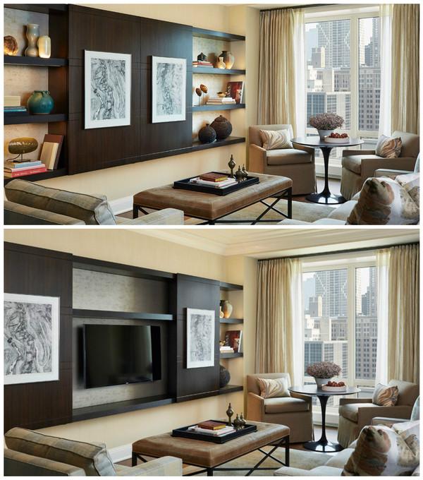 как спрятать телевизор в интерьере