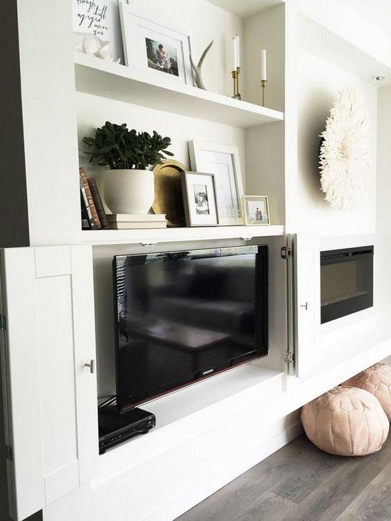 маскировка телевизора в интерьере
