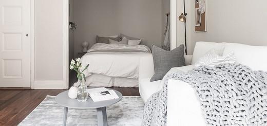 спальня и гостиная в однушке