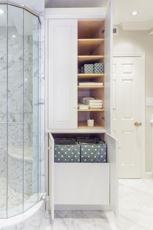 корзины для хранения белья в ванной