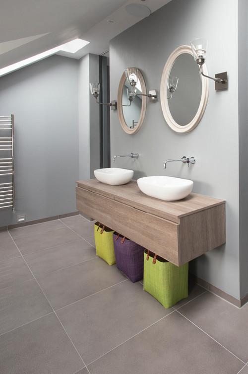 корзины для белья в ванной идеи