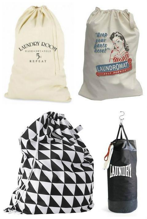 мешки вместо корзины для белья