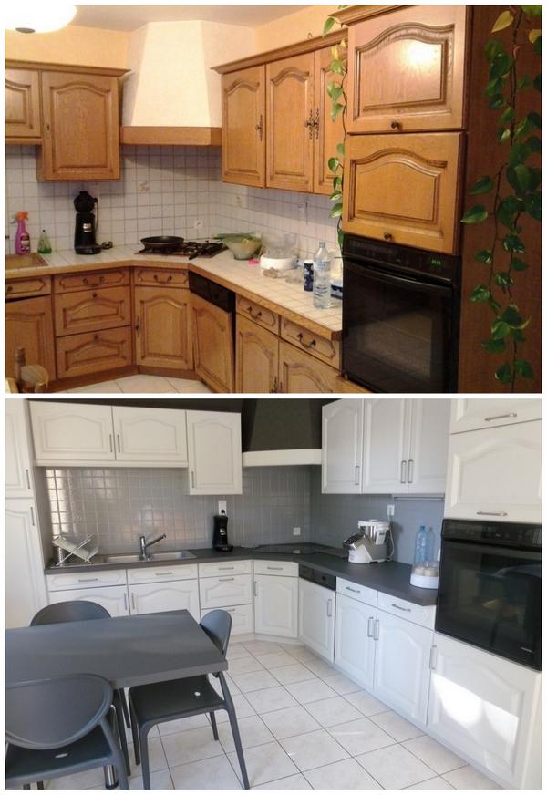 покраска кухонных фасадов и фартука