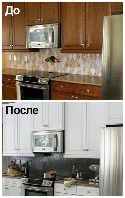 обновление фартука на кухне