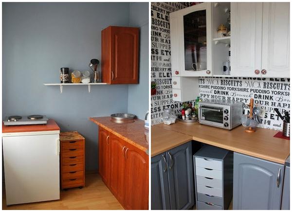 покраска старого кухонного гарнитура