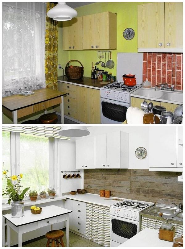 плане полноты как обновить кухню без денег фото прекрасно можно закрыть