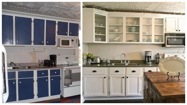 как обновить старую кухонную стенку
