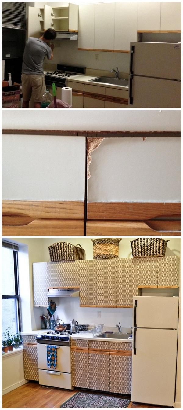 обновление старой кухонной мебели