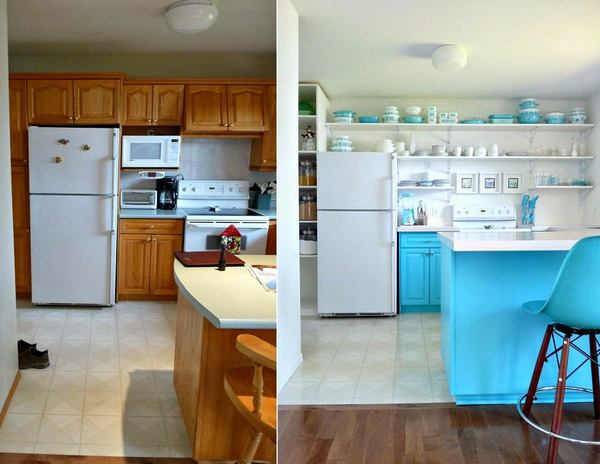 обновление старой кухни с малым бюджетом