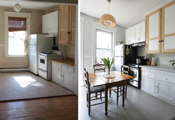 как преобразить старую кухню на съемном жилье