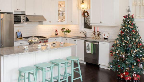 как оформить кухню к новому году