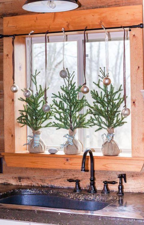 новогоднее украшение интерьера кухни
