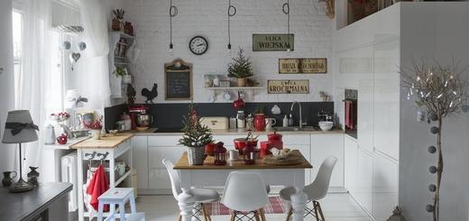 как украсить кухню к Новому году?