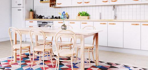 ковры и коврики в интерьере кухни