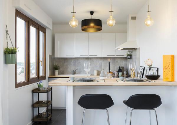 высота верхних кухонных шкафов: до потолка или нет