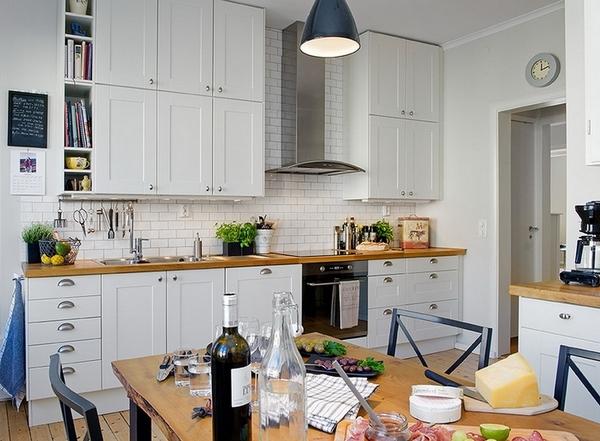 верх кухни в два уровня