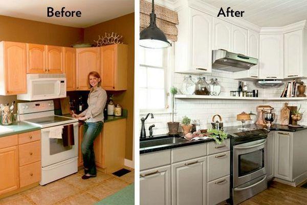 поднять кухонные шкафчики до потолка