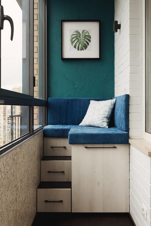 сиденье с хранением на балконе и лоджии