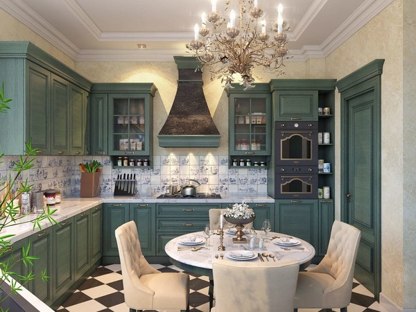 Кухни с зелёными фасадами: красиво, свежо и спокойно - обсуждаем