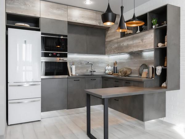 фасады и столешница на кухне одного цвета