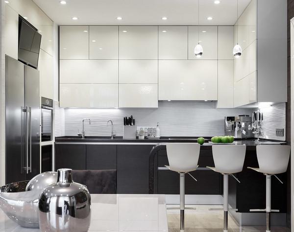цвет столешницы и фасадов на кухне