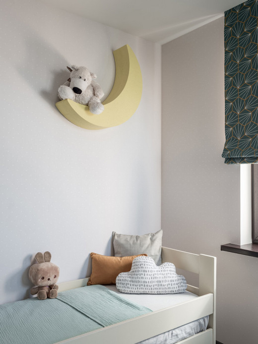 украшение стены над детской кроватью