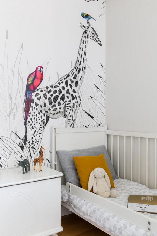 украшение стены за детской кроватью