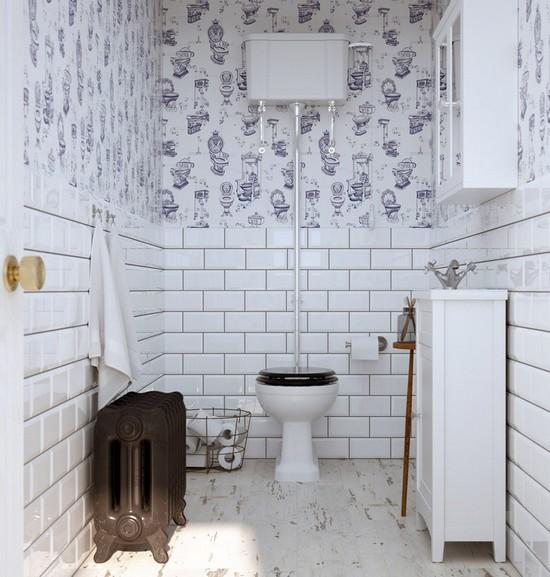 обои в туалете плюсы минусы