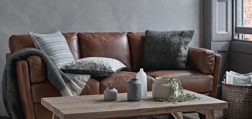 сочетание коричневого и серого в интерьере
