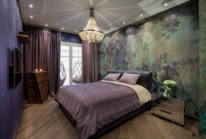 как сочетать покрывало и занавески в спальне
