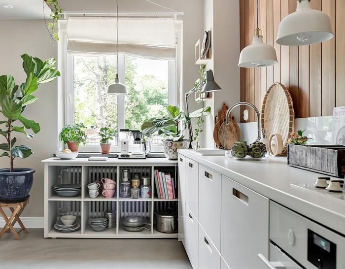 чем оформить пустой угол на кухне