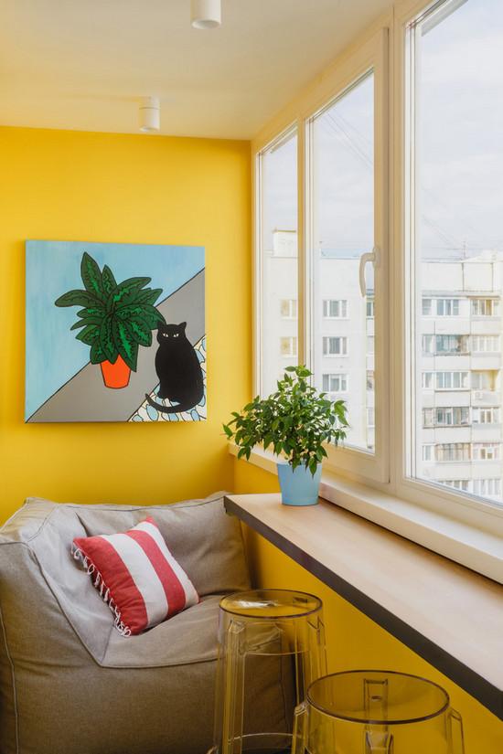 в какой цвет покрасить балкон