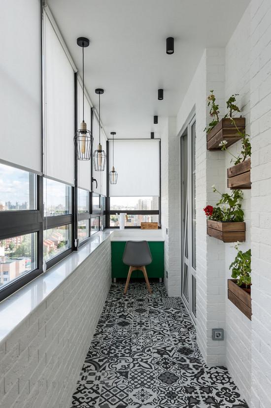 покрасить балкон изнутри в белый