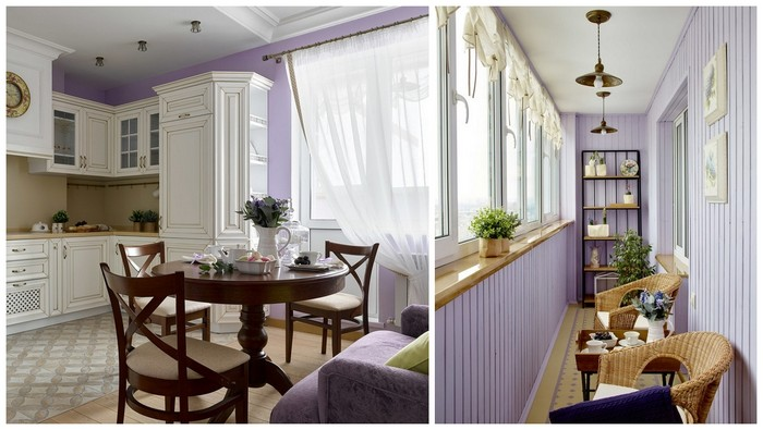 как подобрать цвет балкона