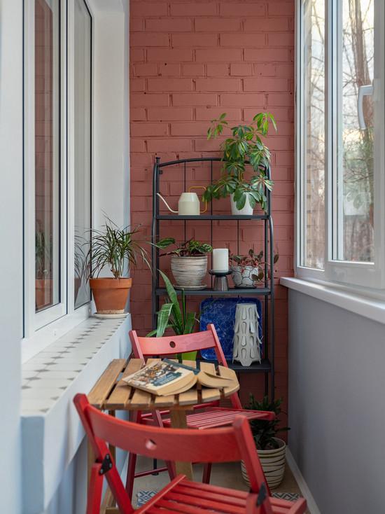 цвет стен на балкона/лоджии