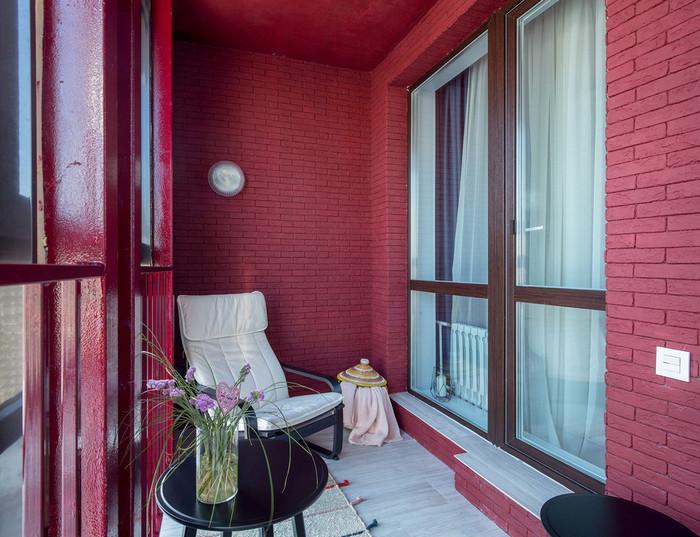 в какой цвет покрасить стены на балконе, лоджии