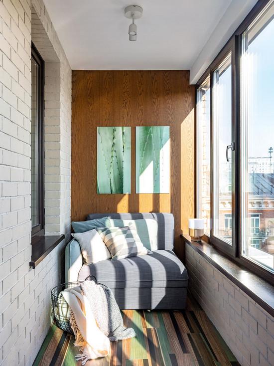 цвет стен на лоджии, балконе