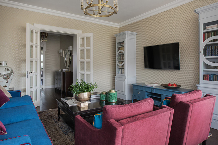 как расставить мебель в гостиной без стенки