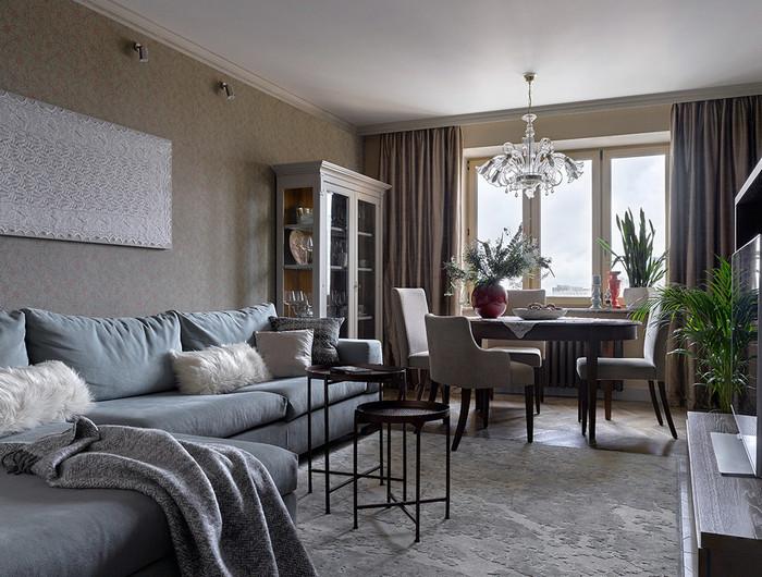 меблировка современной гостиной