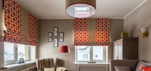 два окна в комнате: как оформить шторами