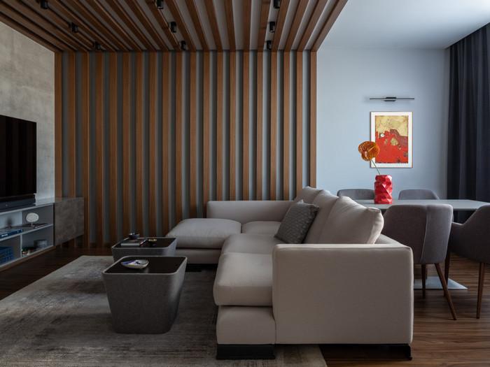 баффели в интерьере гостиной