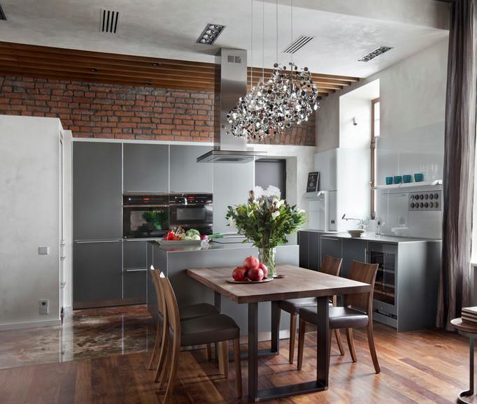 рейки на потолке на кухне