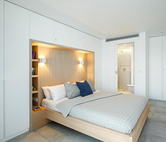 шкаф вокруг кровати