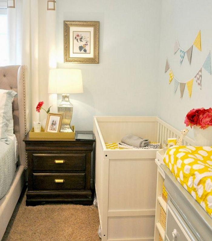 взрослая спальная с детской кроваткой