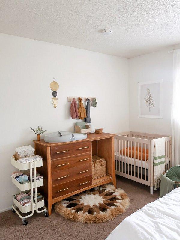 уголок новорожденного в спальне родителей