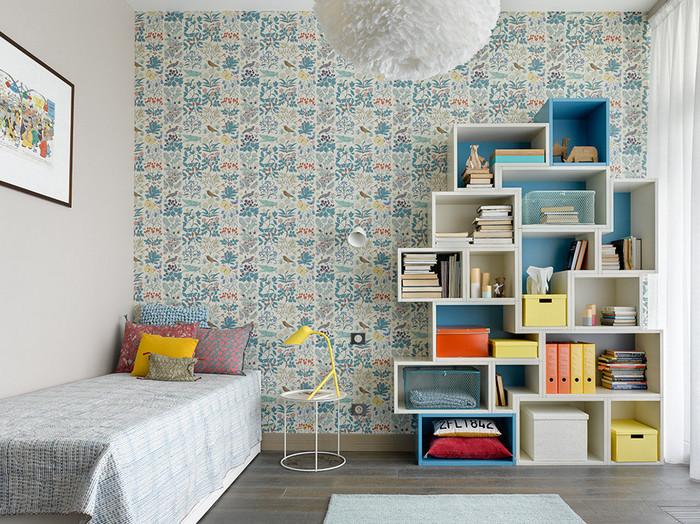 как скомбинировать покраску стен с обоями