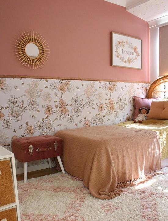 обои и покраска в одной комнате